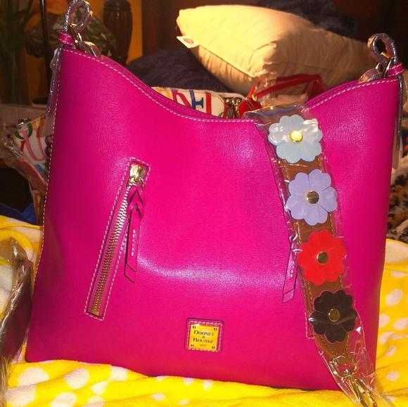 Dooney & Bourke Handbags - Dooney & Bourke New Fuschia Saffiano Cooper
